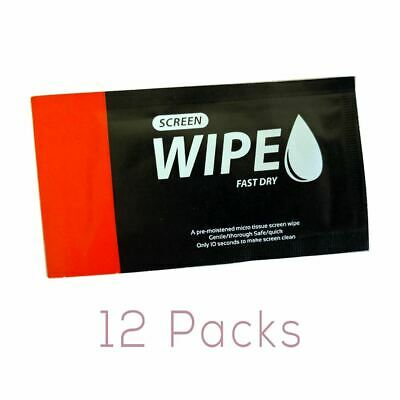 GGS WW-1 Wet Wipes for Cleaning LCD, Phones, Electronics - 12 Pack