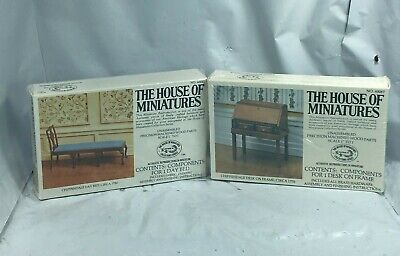 Lot The House of Miniatures #40067 Chippendale Desk on Frame & #40043 Day Bed FS