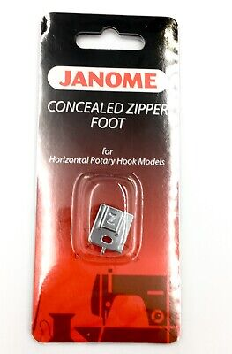 Janome Concealed Zip Foot 200333001 - Category B/C