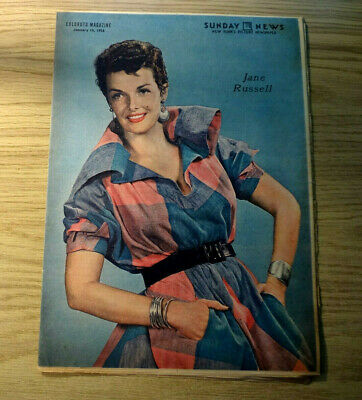 1956 1/15 Sunday New York News Coloroto Magazine - Jane Russell, 1956 Chevy Gm