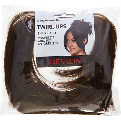 Revlon Ready to Wear Hair, Twirl Ups Hair Piece, Wig Add On Medium Brown *