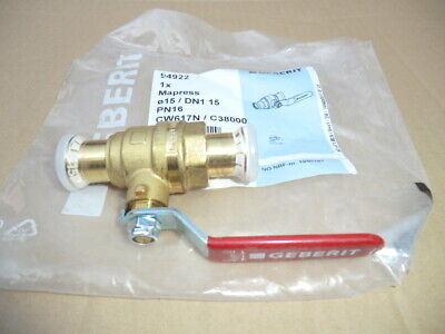 Geberit 15Mm Mapress Ball Valve New