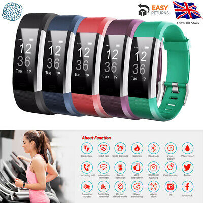 Sports Fitness Tracker Watch Waterproof Heart Rate Monitor Exercise Fitbit Style