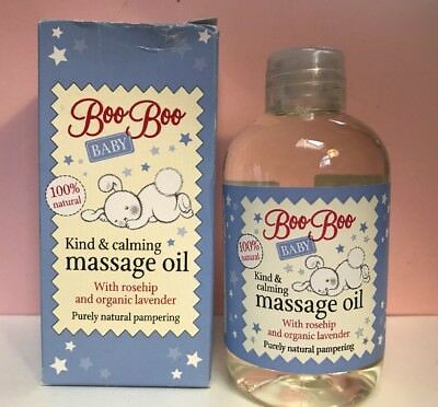 Mum To Be Love Boo Baby Kind Calming Massage Oil Rosehip Organic Lavender 100ml