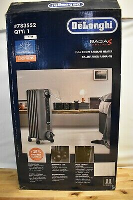 DELONGHI OIL-FILLED RADIANT Energy Efficient Electric Space Heater w