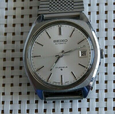 Seiko 6118-8010 Japan Vintage Automatic Mechanical Wrist Watch Men 1970's Steel