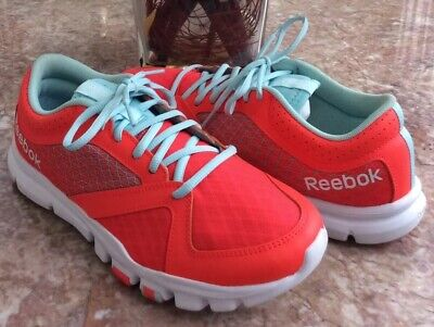 Reebok YourFlex Trainette 7.0 Women's Neon Red Turquoise Running Shoes Sz 9 EUC!