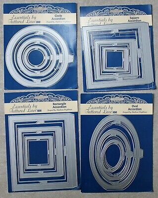 Tattered Lace Accordion Bundle - Square, Rectangle, Oval & Circle + Free P & P
