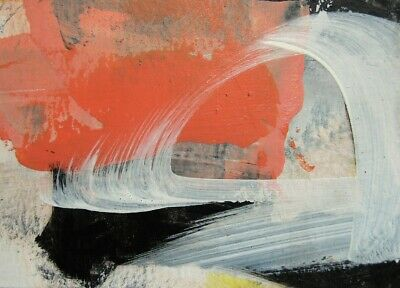 ACEO Original contemporary abstract Painting acrylic paper Revival #30 KCrosby