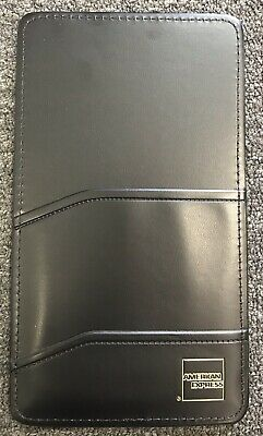 Single Panel Check Presenter Restaurant Servers Book, American Express Black NEW