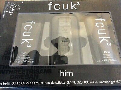 355e585d852 FCUK FOR HIM Gift Set, Pack of 3 - £22.99 | PicClick UK