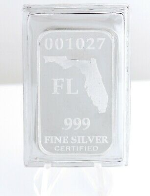 1/2 oz Silver Bar .999 Fine Federated Mint Vault State Minimum Florida Sealed