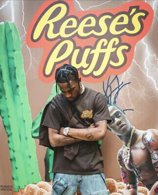 COMPLETE SET - Travis Scott X Reese's Puffs Cereal, Bowl, & Spoon Cactus Jack