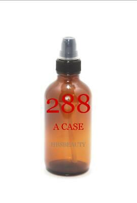 """Boston Round Amber Glass Bottles 2 Oz With Treatment Pumps & Caps """"Select Pack """""""