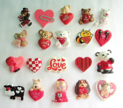 Group Of Hallmark Pins - 20 Valentine's Day (All Different - Vintage To Now) #1