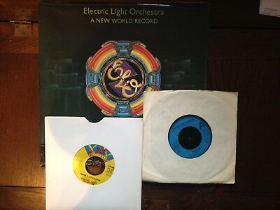 "Electric Light Orchestra : LP & 2 7"" 45s - New World Record/Nightrider/Shine Lit"