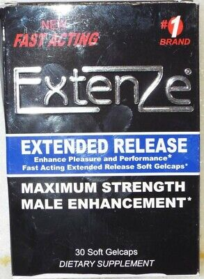 ExtenZe Extended Release Max Strength Male Enhancement - 30 Soft Gelcaps