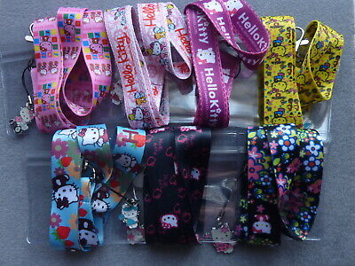 8ce045ec5 Lanyard Hello Kitty Charm ID Card Pass Badge Key Holder Whistle Phone Neck  Strap
