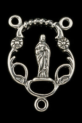 23mm Sterling Silver Rosary Center #BSV045