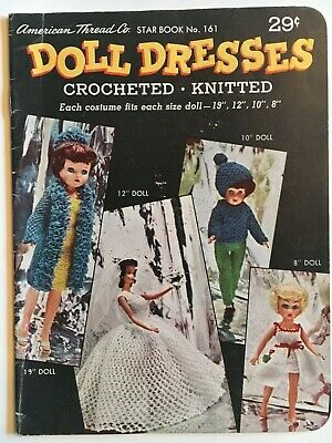 Vintage Crochet and Knit Doll Clothes Dresses Pattern Books Star Book 84 & 161