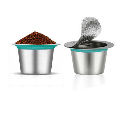 Portable Coffee Capsule Filter Refillable Reusable Pod for Nespresso Machine