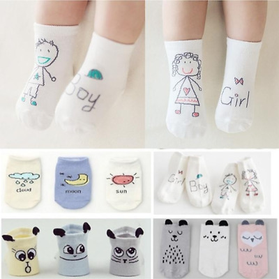1Pair Baby Cotton Socks Newborn Antislip Toddler Boys Girls Warm Ankle Socks
