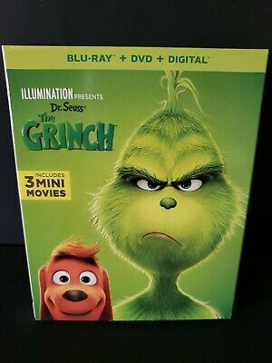 Dr. Seuss' The Grinch (Blu-Ray, DVD, Digital, 2018) Brand New - SEALED