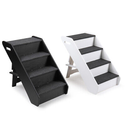 Fine Pets Steps Stairs Dogs Tan 4 Step Ladder Wide Portable Ramp Dailytribune Chair Design For Home Dailytribuneorg
