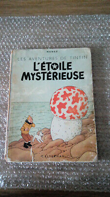 Tintin L'etoile Mysterieuse B1 1946  Dos Bleu Be Pull Haddock  2 Couleurs