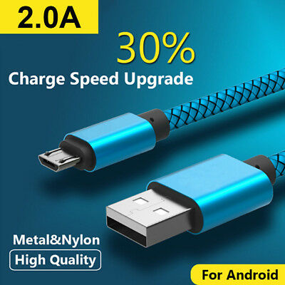 20AWG Micro USB FAST Data Charger Cable Lead for Samsung Galaxy S4 S5 S6 S7 Edge