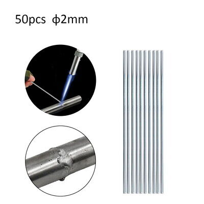 50PCS 2.0MM*33CM Aluminum Welding Wires Low Temperature Flux Solder Rod Cored