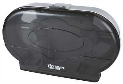 Renown Jr Jumbo Black Twin Toilet Paper Dispenser