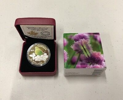 2015 Butterflies Of Canada Coin Fine Silver Royal Canadian Mint Colias Gigantea