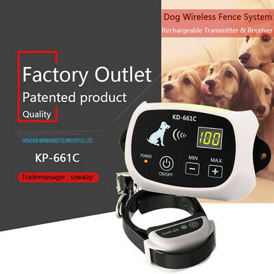 Electronic Dog Collar For Fencing Containment Training System Fence Waterproof