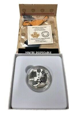 2015 $10 Fine Silver Coin Looney Tunes You're Despicable Royal Canadian Mint