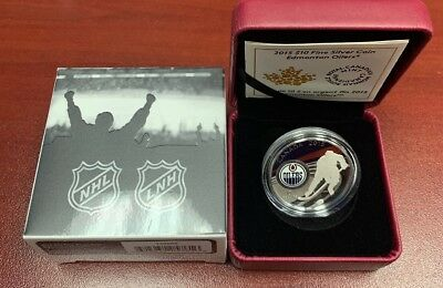 2015 Fine Silver Coin 99.99% Edmonton Oilers Royal Canadian Mint NHL Team