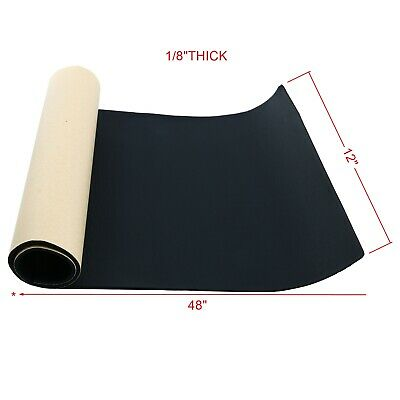 "Multiple Size Sponge Neoprene with Adhesive 1/8""x 12"" x 48"" Foam Rubber Sheet"