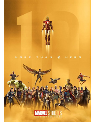 "Marvel Studios Special Collector 10th Anniversary ""More Than A Hero"" Gold Poster"