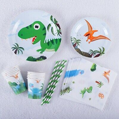 5 Styles Dinosaur Child Birthday Party Balloon Plate Cup Tableware Decoration UK