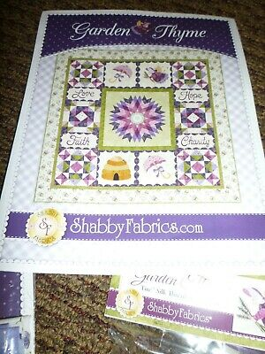 Garden Thyme Bom By Shabby Fabrics Laser Cut Pieces And Thread Included Complete