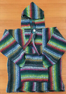 Mexican Baja Hoodie, Adult,  Surfer, Pullover, Poncho, Hippie, Jerga, Unisex