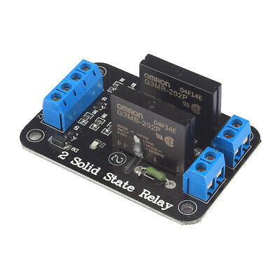 1X(1pcs 5v 2 Channel OMRON SSR G3MB-202P Solid State Relay Module For Ardui R3V9