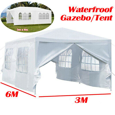 3M X 6M Waterfroof Outdoor Garden Gazebo Canopy Party Wedding BBQ Tent Marquee