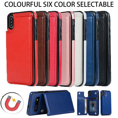 For iPhone 11 Pro Max XS XR X 8 7 Flip Card Leather Wallet Magnetic Case Cover
