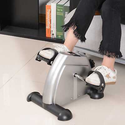 Portable Mini Pedal Exercise Bike Indoor Cycle Fitness Arm Leg Silver