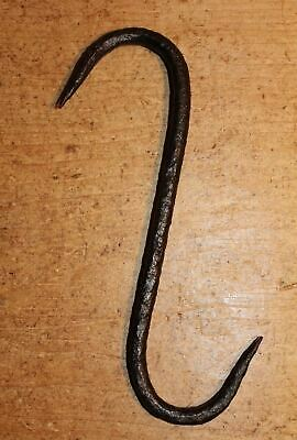 Antique Wrought Iron S Hook Meat Beam Game Hook Butchers Bacon Hook