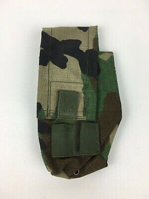 New US Military Double Mag Pouch Woodland Camo Molle 2 Magazine Pouch