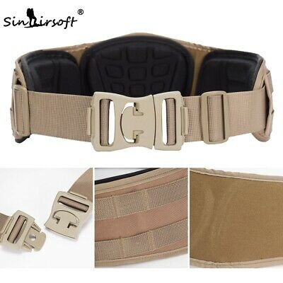 Sporting Goods Tactical Combat Molle Waist Padded Duty Belt Adjustable Mesh Net Linings Buckle Tactical & Duty Gear