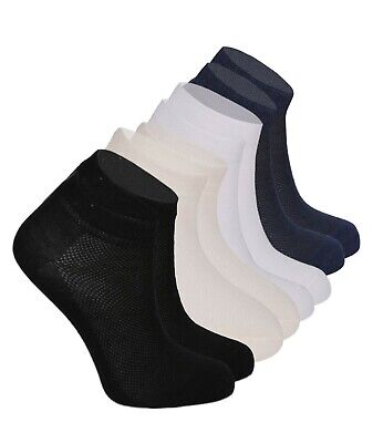 12 Pair Kids Boys Girls Unisex Stretch Cotton Ankle Cream White Navy Black Socks