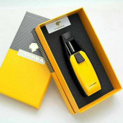 COHIBA Special Cigar Lighter Refillable Windproof One Jet Flame Torch Lighter